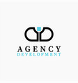real estate initial letter a d logo design vector image vector image
