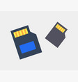 sd cards for photo and video storage color icons vector image