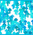 seamless arrow background pattern - from rounded vector image vector image