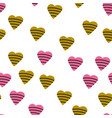 seamless pattern with colorful hearts vector image vector image