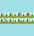 set animal in park vector image vector image