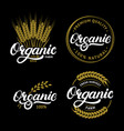 set of organic hand written lettering logos labels vector image vector image
