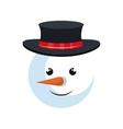 snowman christmas symbol vector image vector image