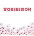 social media icons social media obsession vector image
