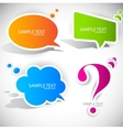 speech bubble elements vector image vector image