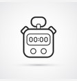 stopwatch sport black line icon eps10 vector image