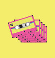 tape cassette tapes in flat style vector image