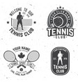 tennis club vector image vector image