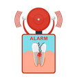 tooth damaged alarm vector image vector image