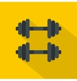Two barbells icon flat style vector image vector image