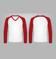 two color long sleeve t shirt vector image