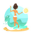 vacation-girl vector image vector image