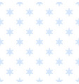 white snowflake pattern seamless vector image
