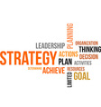 word cloud strategy vector image vector image