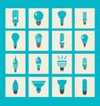 light bulbs icon set vector image