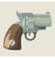 Old steel cowboy revolver isolated on light vector image