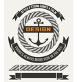 Marine design with elements vector image