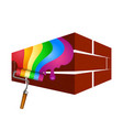 painting with a roller of walls vector image