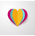 3d paper heart vector image vector image