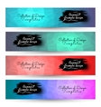 4 in 1 Poligon geometric Backgrounds for Banner vector image vector image