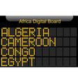 africa country digital board information vector image vector image