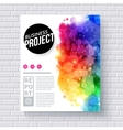 Attractive Web Template for Business Project vector image vector image