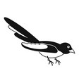 australian magpie icon simple style vector image