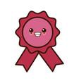 award ribbon symbol kawaii cute cartoon vector image vector image