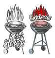 barbecue food meat steak roast grilled vector image vector image