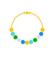 bead or mala necklace jewelry related icon flat vector image vector image