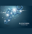 blockchain technology background vector image vector image