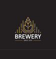 brewery beer house label vector image