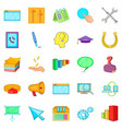 Business group icons set cartoon style vector image