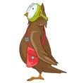 Cartoon character funny owl vector image