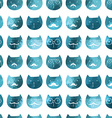 cats seamless pattern triangle cats Abstract ca vector image vector image