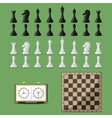 Chess board and chessmen vector image