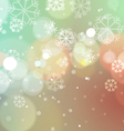 Christmas Lights with Snowflakes Vintage vector image