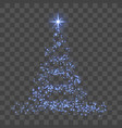 christmas tree 3d for card transparent background vector image vector image