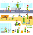 cleaning service infographic elements cleaners vector image vector image