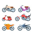 colorful modern motorbike transportation flat vector image