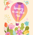 colorful spring poster design spring is in air vector image vector image