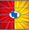 comic fight and duel template vector image vector image