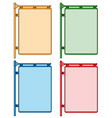 corner shields with blank space for text set vector image vector image