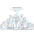 creative group - modern line design style web vector image vector image