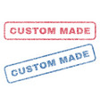 custom made textile stamps vector image