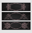 design element beauty decorative frame for text vector image vector image