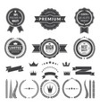 design template of premium badges or logos vector image