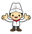 executive chef character welcome isolated on vector image vector image