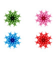 flower floral patterns on a white background vector image