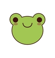 frog kawaii cute animal icon vector image